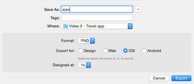 Export Adobe XD