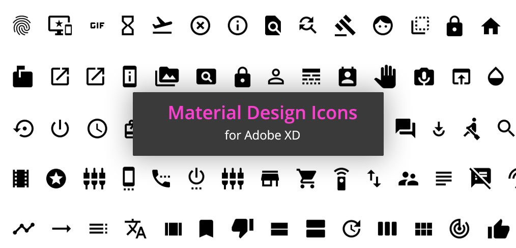 1000 Free Material Icons for Adobe XD - XDGuru