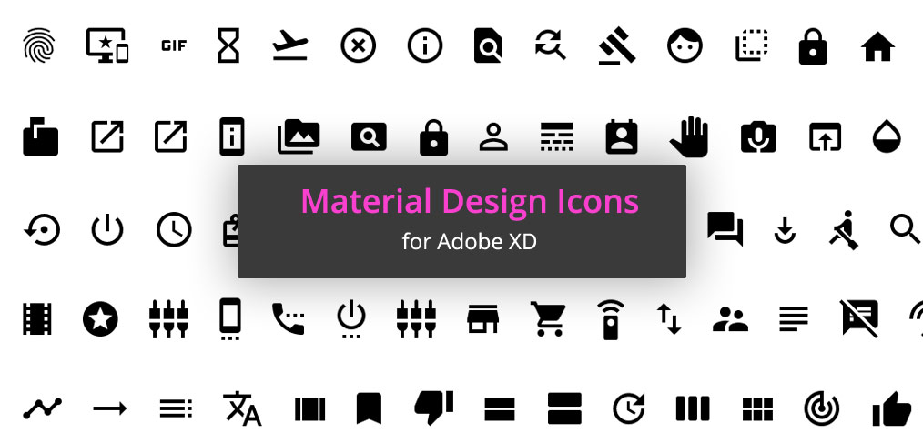 1000 Free Material Icons For Adobe Xd Xdguru