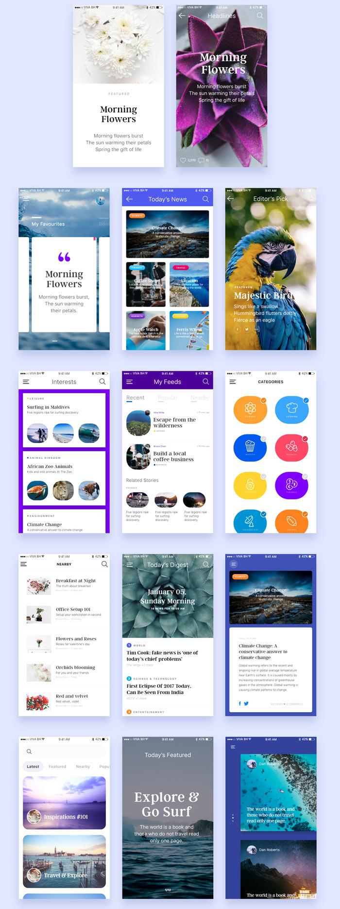 Blog screen XD