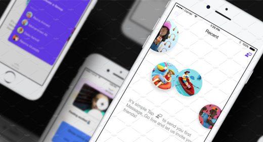 ChattiApp UI kit Adobe XD
