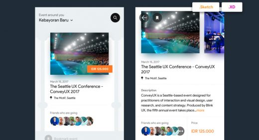 Eventbrite redesign XD