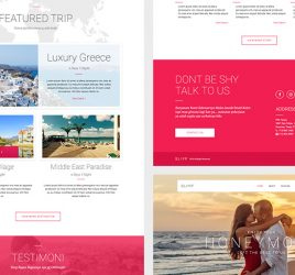 Travel landing page XD