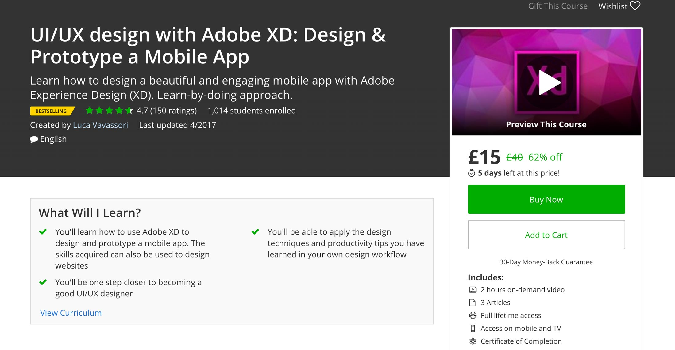 Adobe XD Course - Learn Adobe XD while designing a real