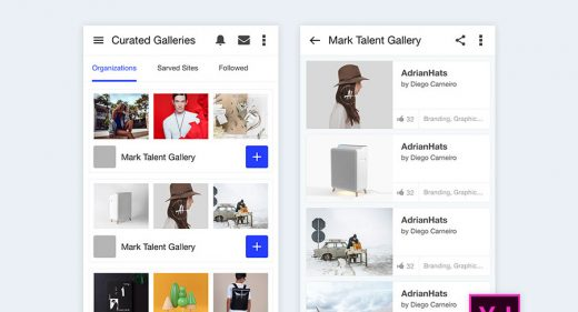 Behance screens xd