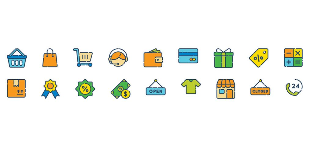 shopping icons adobe xd