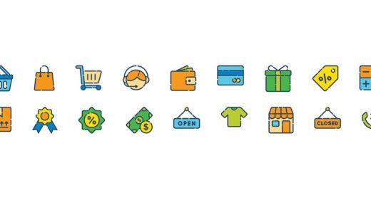 shopping icons adobe xd