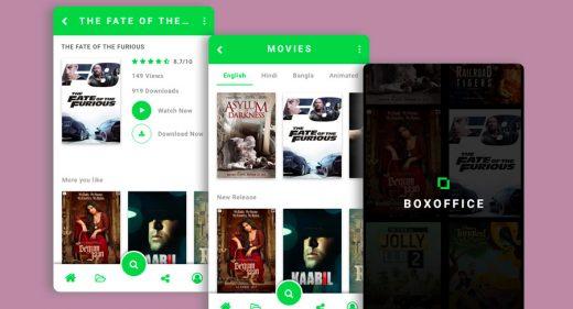 movie app xd mobile