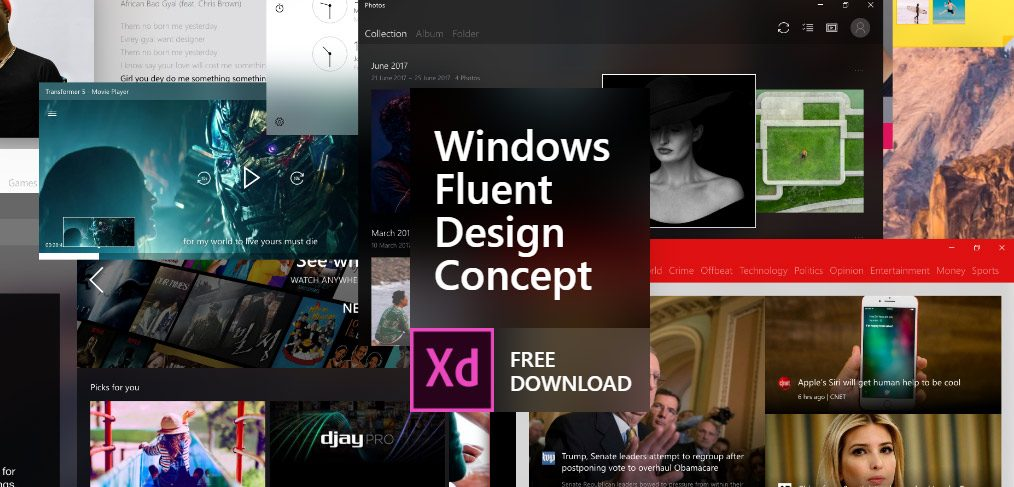 windows fluent design xd