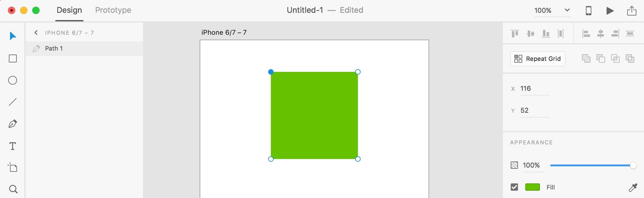 Edit Shape xd 1
