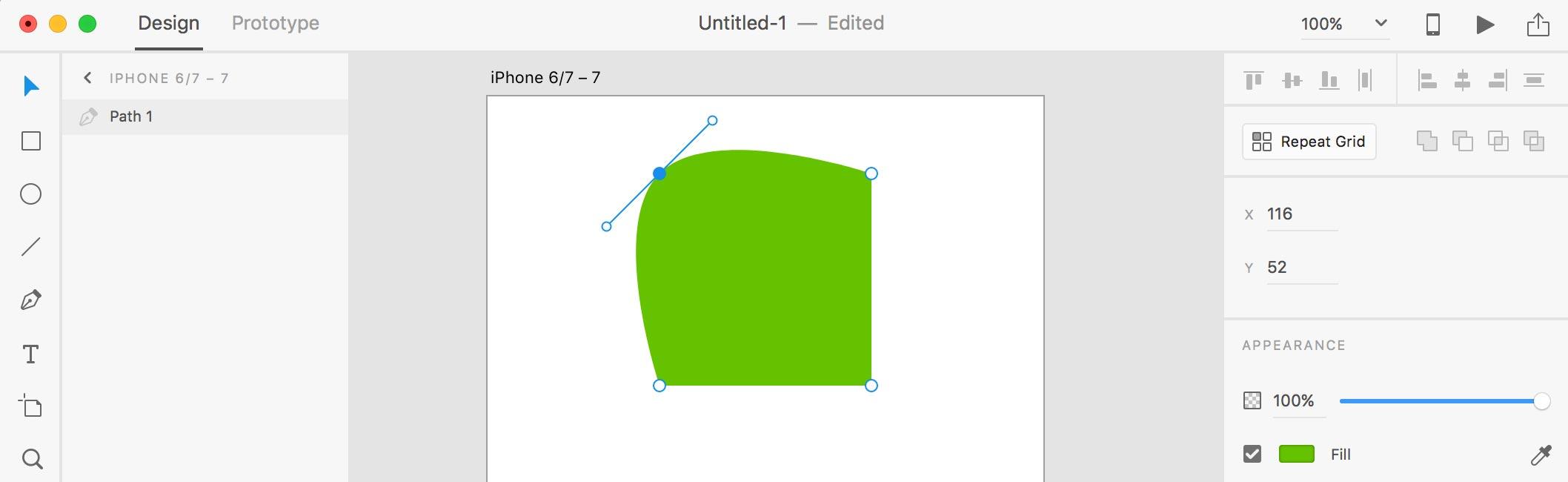 Edit Shape xd 3