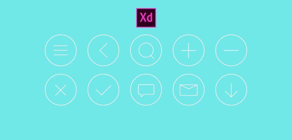 basic icons xd