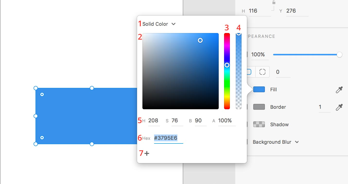 color picker xd