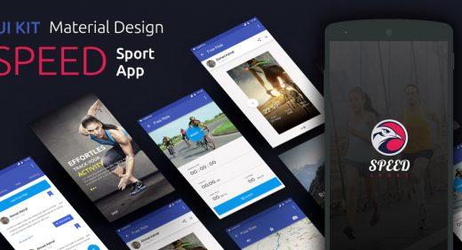 sport app material ui kit