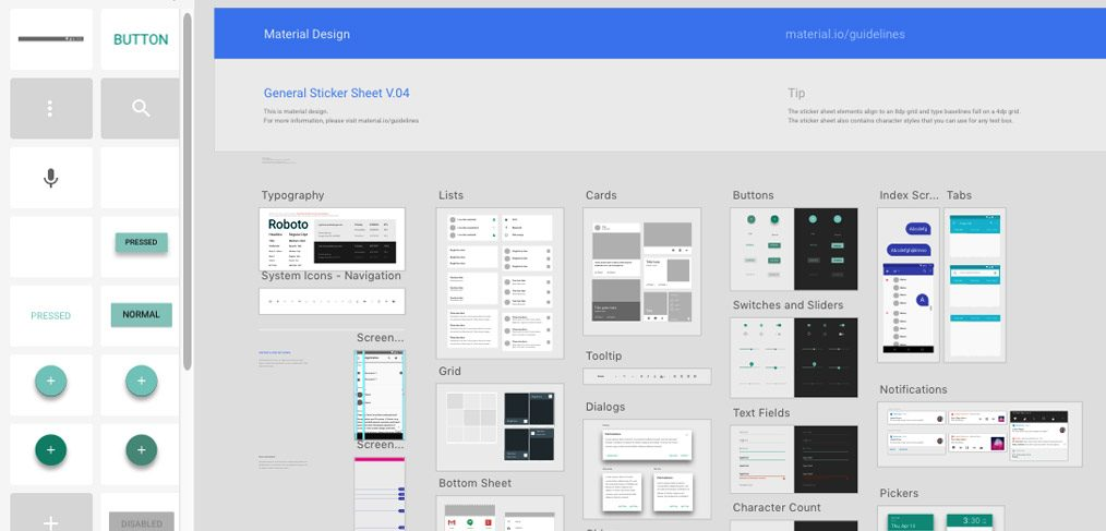Material Design Sticker Sheet By Google Xdgurucom