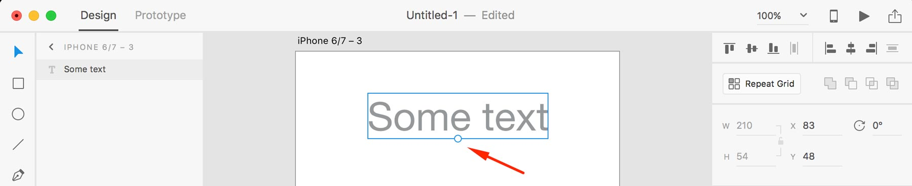 Working with text in adobe xd learn adobe xd with xdguru text handles xd ccuart Image collections
