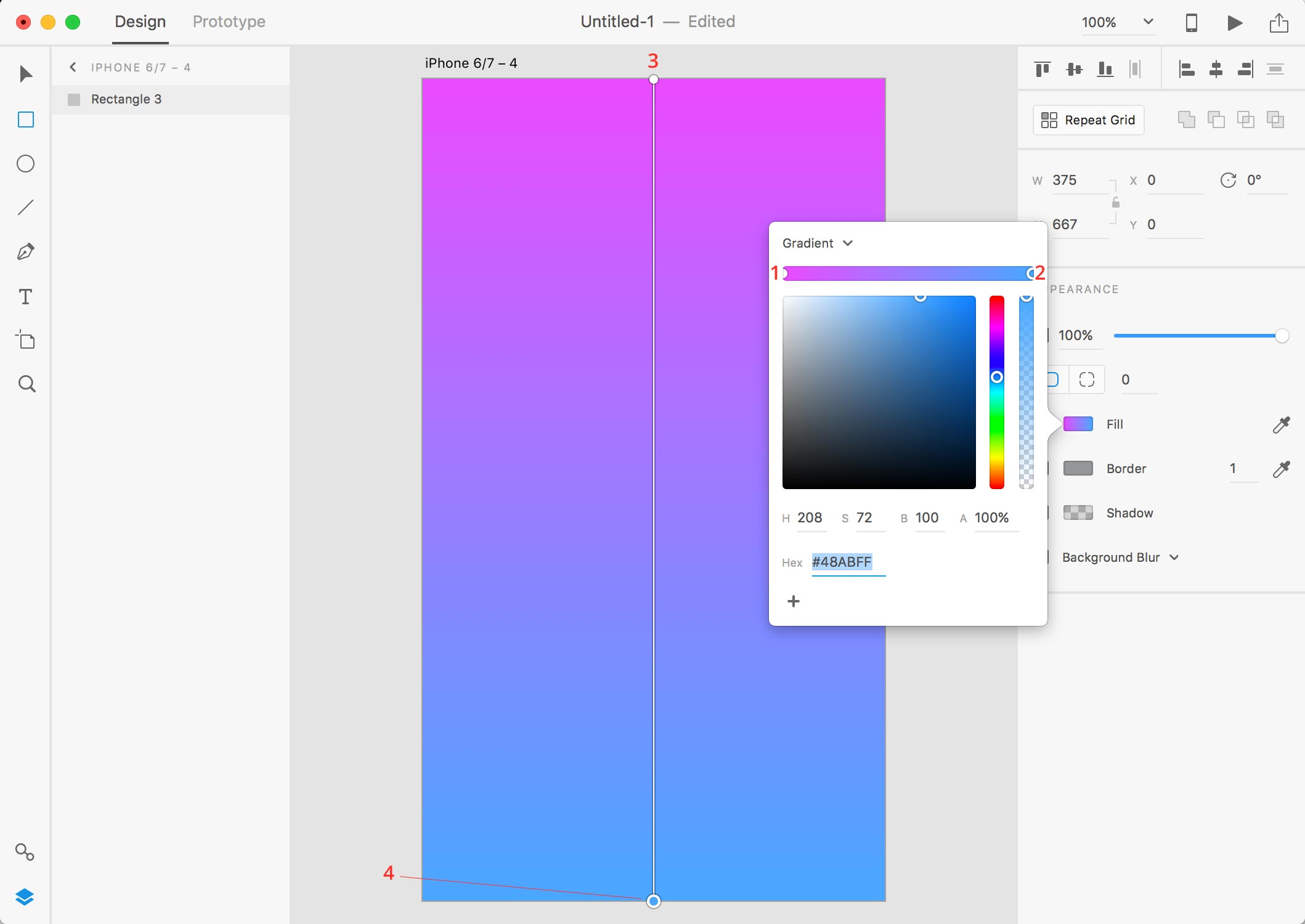 adobe xd gradients