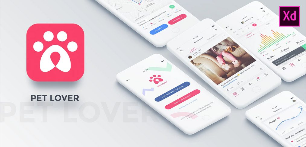 pet lover ui kit xd
