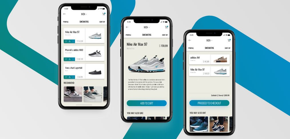 Sneakers e commerce mobile app for E commerce mobili