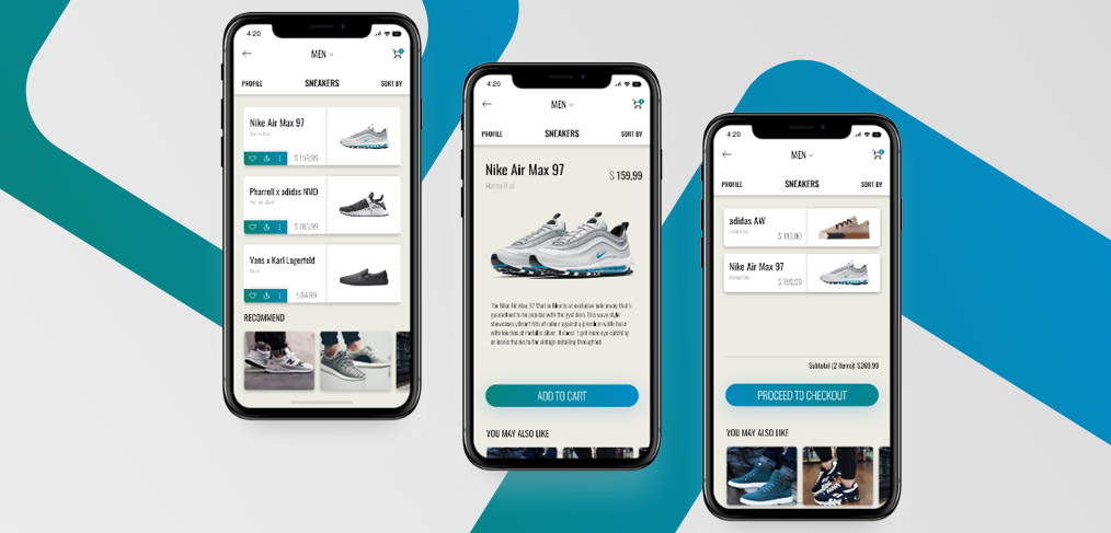 sneakers e commerce mobile app