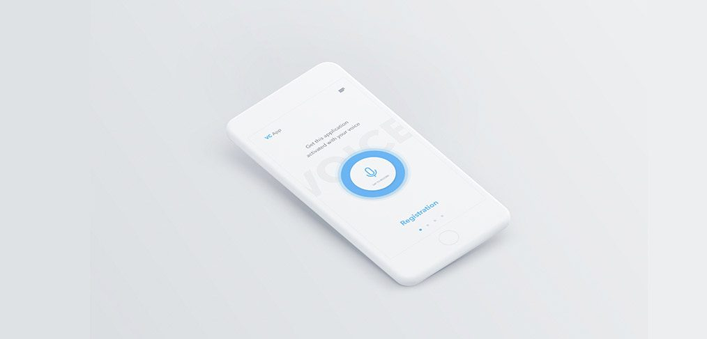 Voice Mobile App - Adobe XD freebie - XDGuru com