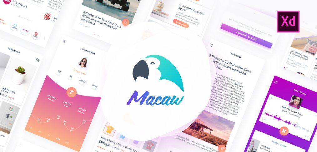 macaw ui kit xd