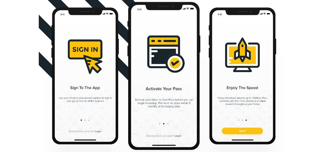 onboarding screens adobe xd