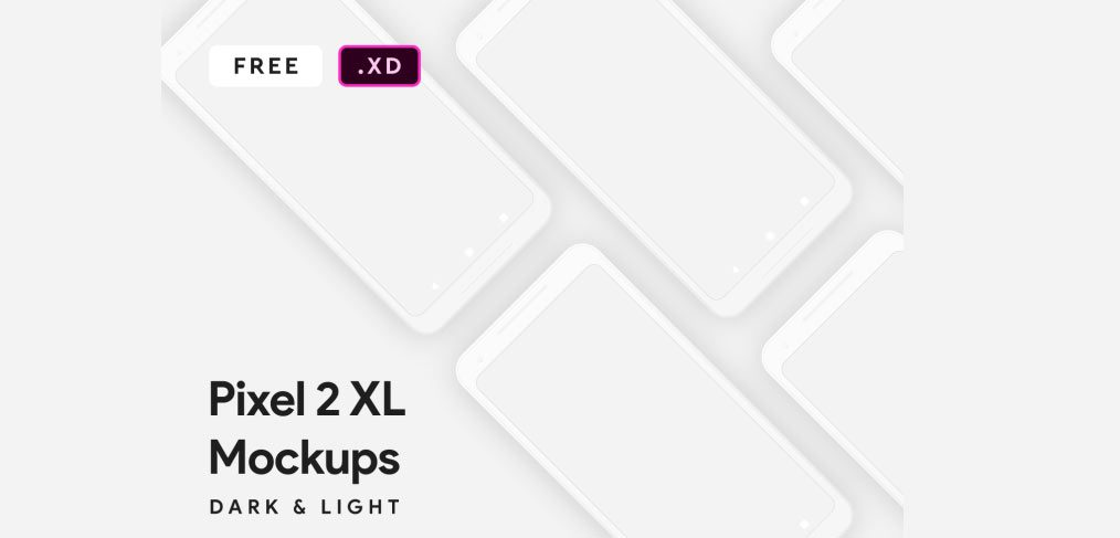 Pixel 2 XL Mockups for Adobe XD - XDGuru com