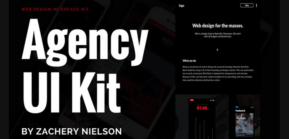 Agency Free Adobe XD UI Kit