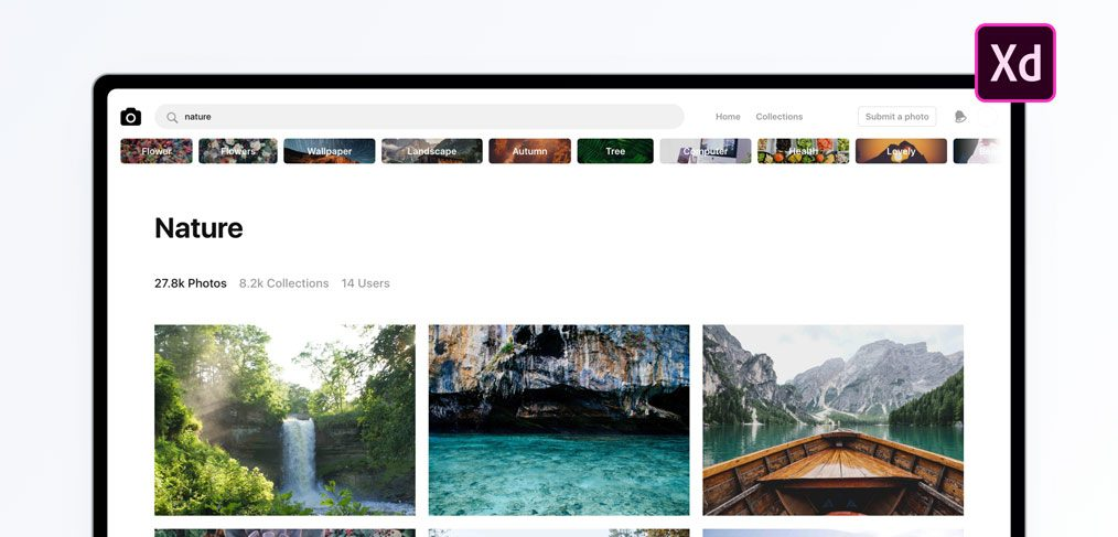Unsplash website template freebie for Wordpress splash page template