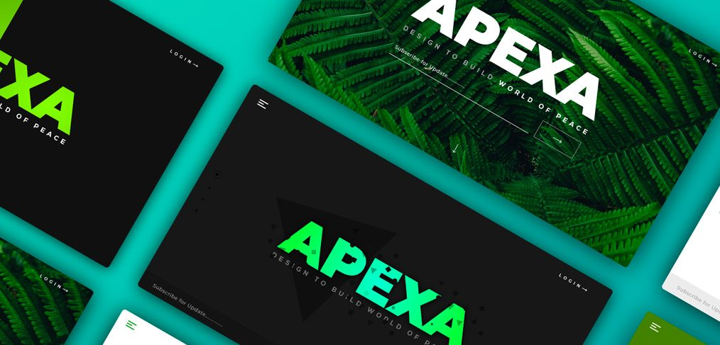 Apexa Landing Page Concept for Adobe XD