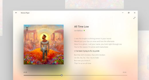 Moona - Adobe XD Music Player Concept