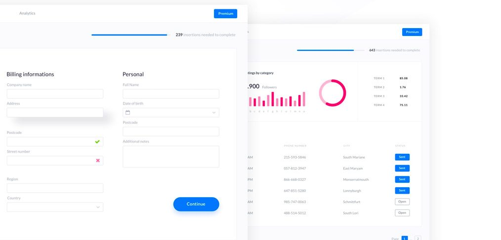 SaaS Dashboard UI Kit for Adobe XD
