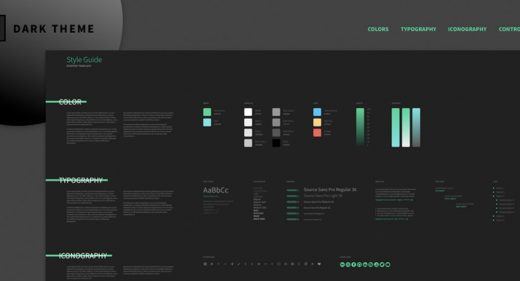 Style guide Starter Template Adobe XD