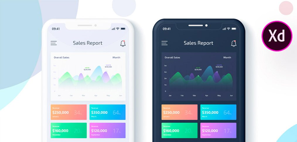 Sales Data Report Mobile App For XD