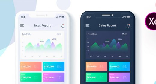 Sales Data Report App Adobe XD