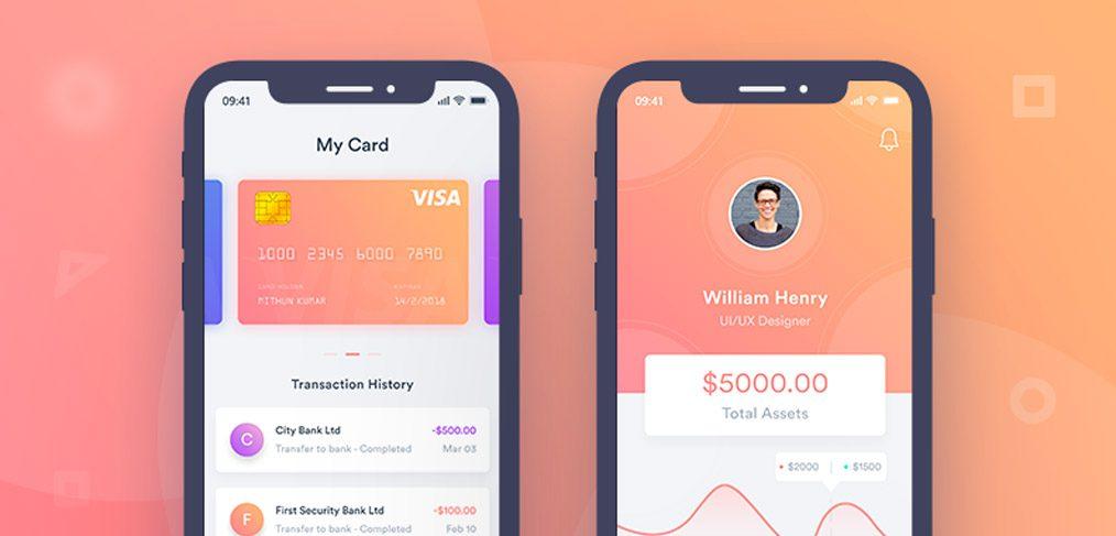 Finance Mobile App Concept in Adobe XD