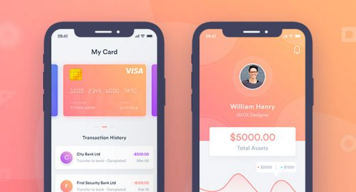 Finance Mobile App Concept in Adobe XD