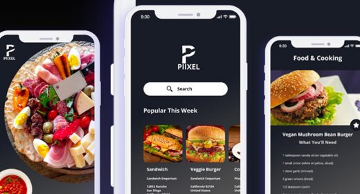 Restaurant App Design ios X adobe xd