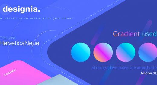 Designia Design Agency Adobe XD Landing Page Concept