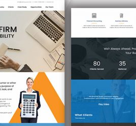 Accounting XD Website Template