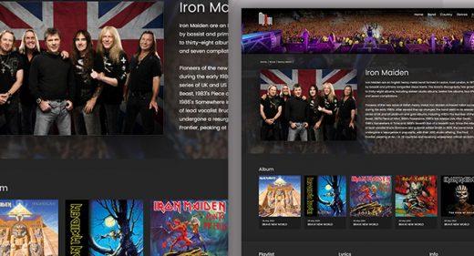 XD Music Website Template