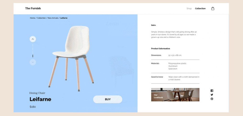 Ecommerce furniture website template xdguru maxwellsz