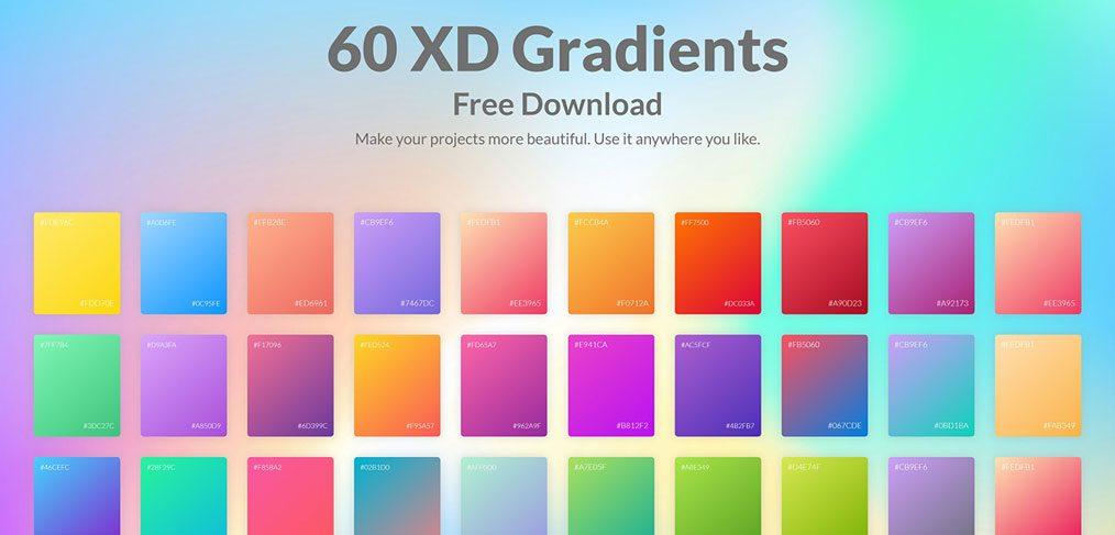 60 Adobe XD gradients collection - XDGuru com