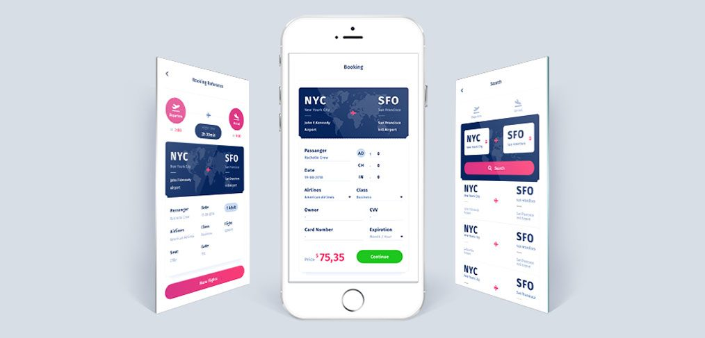 Flight Booking App Free Concept