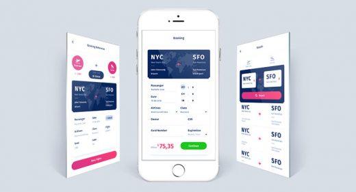 Flight Booking App Free Concept