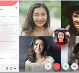 Group video calling interface