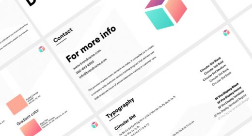Ui kits for adobe xd free and premium ui resources for Free brand guidelines template