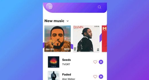 XD music app concept