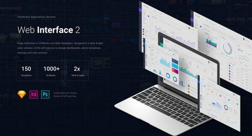 webInterface2 ui kit xd